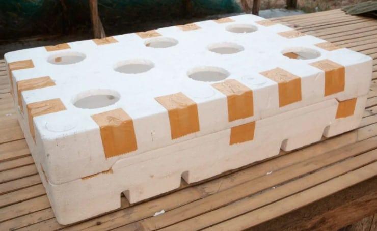styrofoam platform